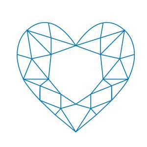 Hjrtslipad-diamant