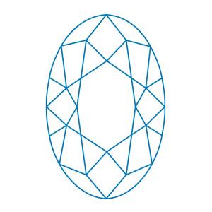 Ovalslipad-diamant