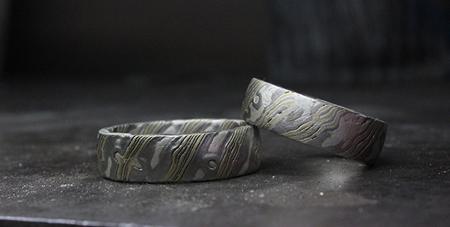 vigselringar-mokume-anders-fors-guldsmed