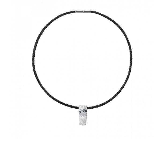 Halsband-george-jensen-silver-läder 3750