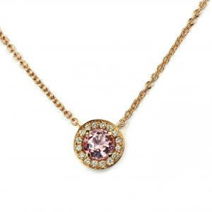 West End 50 Pendant Morganite RG White