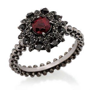Blodröd ring från Carla Amorim perfekt för halloween