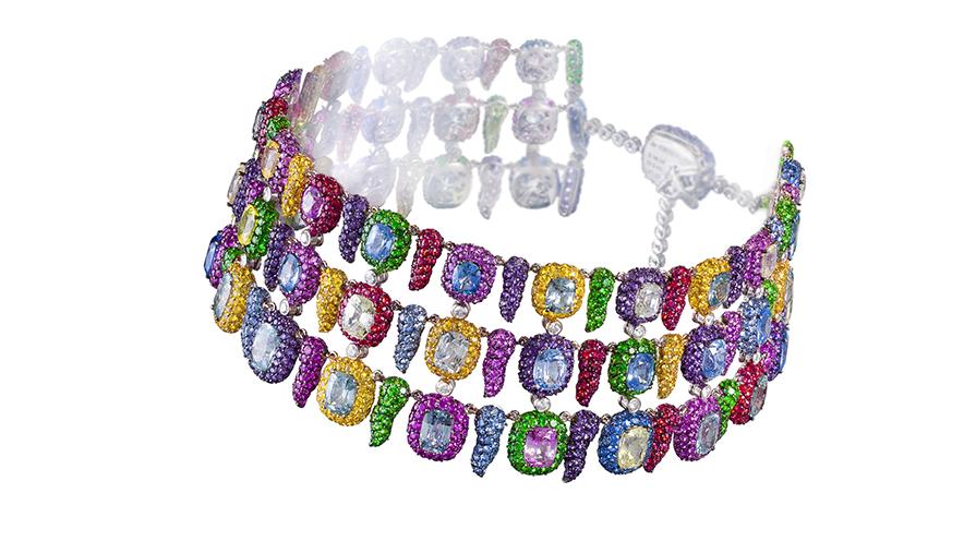 choker-halsband med safirer från de Grisogono