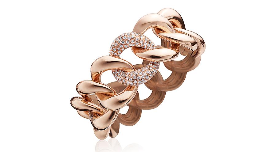 Armband från Rina Limor i 18K roséguld med diamanter