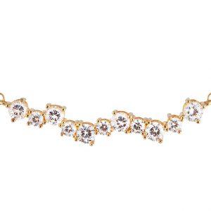 Halsband i guldpläterat, återvunnet silver med Cubic Zirconia från CU Jewellery
