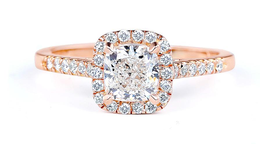 Förlovningsring från Forevermark i 18K roséguld med diamanter