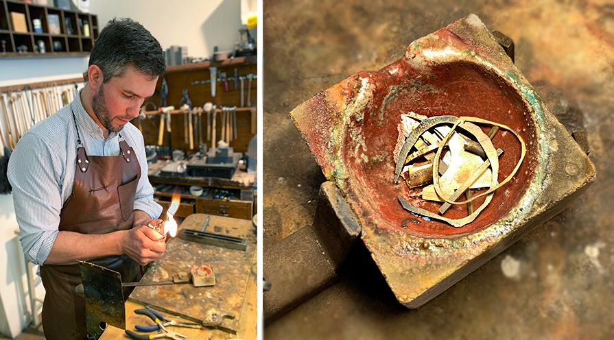 Äkta smycke i guld som tillverkas hos BD