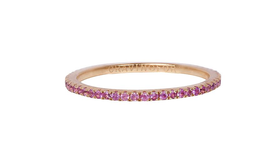 ring med rosa safirer från Cravingfor