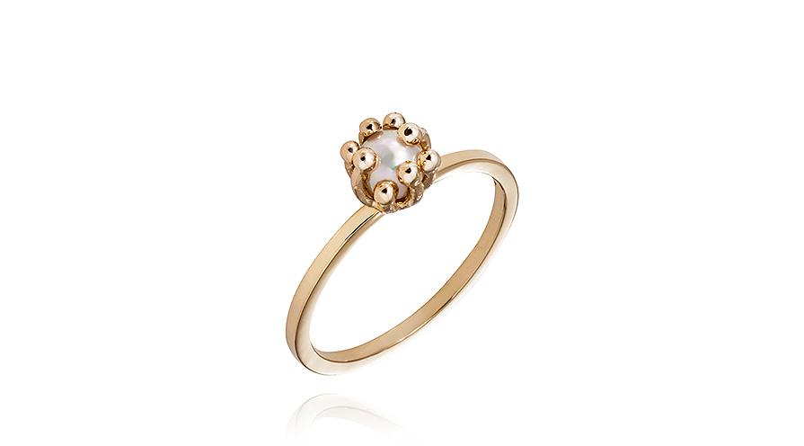 Ring från Hvorslev Jewelry med saltvattenspärla.