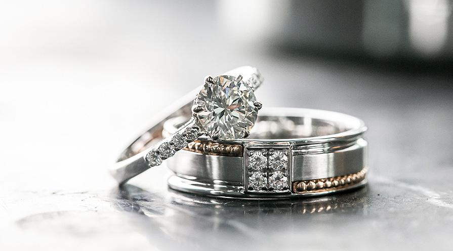 Ringar i platina med diamanter