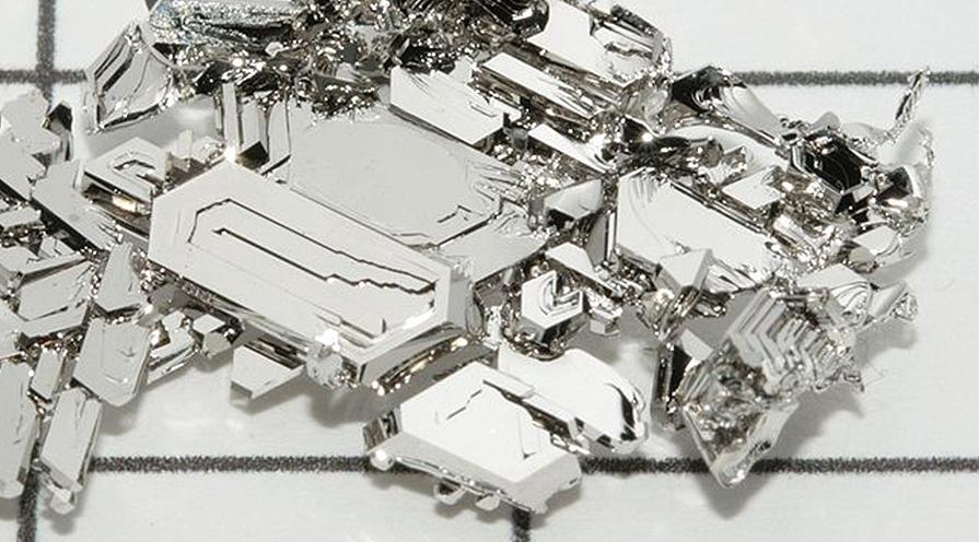 Platina i kristallform