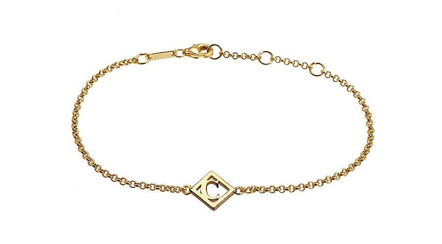 Armband förgyllt silver från Charlotte Bonde. Guld som smyckestil är trendigt.