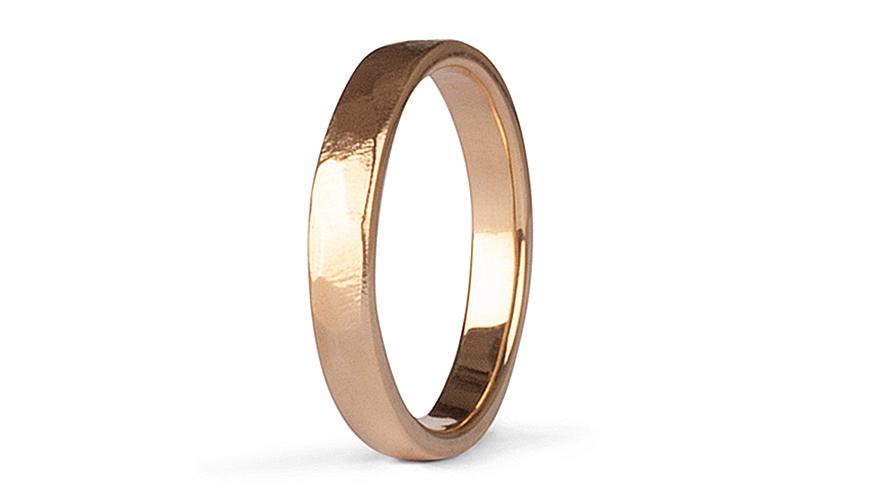 Elegant vigsel-och förlovningsring i guld från Elin Design Jewellery