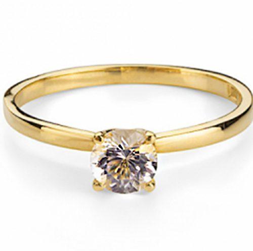 Vigsel-och förlovningsring Morganite i 18 karat guld från Emma Israelsson
