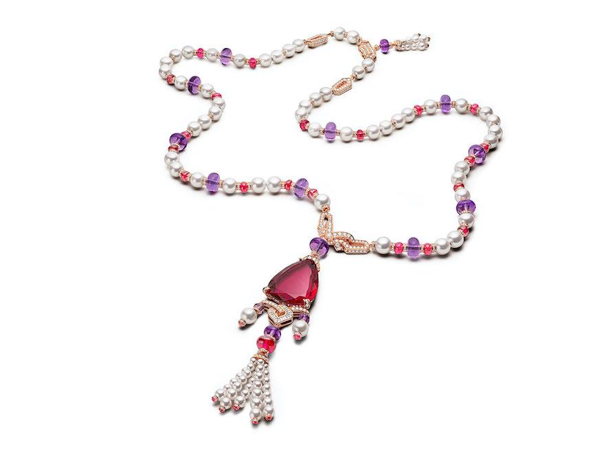 Halsband med rubellit, Bulgari.