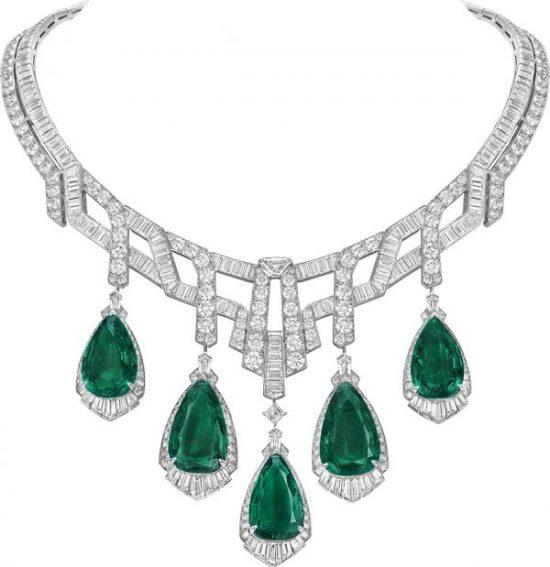 smaragder i collier av Van Cleef & Arpels-Merveille d'émeraudes-highjewellery