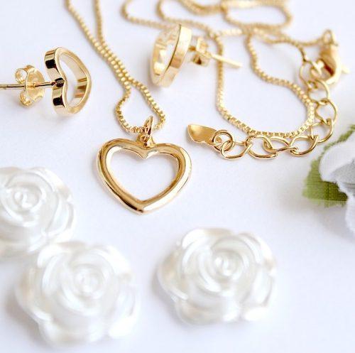 Hjärtformade smycken
