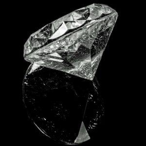 En diamant med inneslutningar