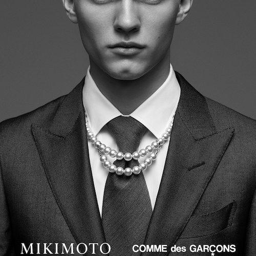 Pärlörhängen för män av Mikimoto Commedesgarçons