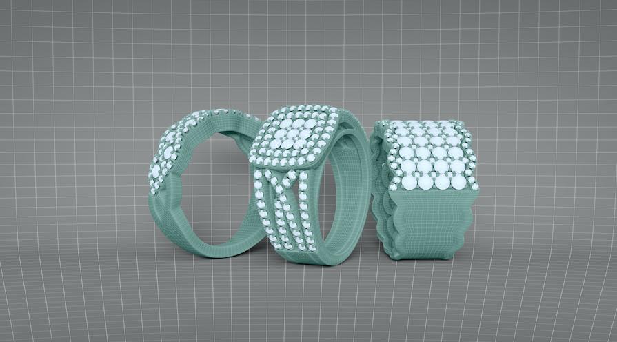 Ringar skapade med CAD