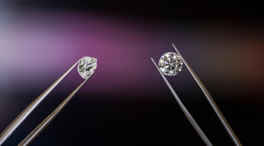 diamant oslipad och slipad