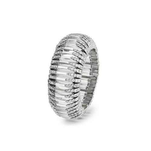 Gloria Swansons fantastiska armband av platina och bergskristall från Cartier