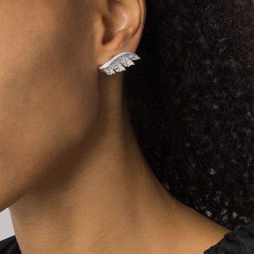 Stephen Webster Magnipheasant diamantörhängen i 18K vitguld