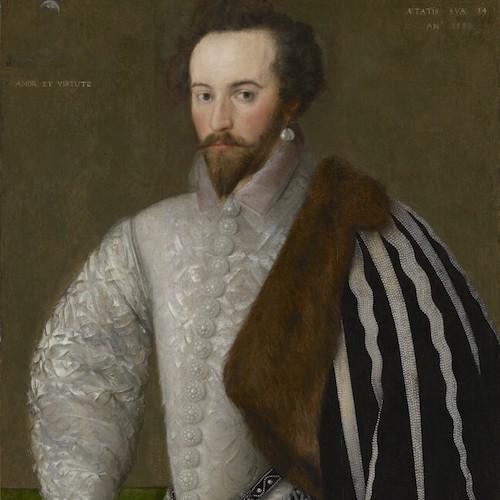 Sir Walter Raleigh med pärlörhängen