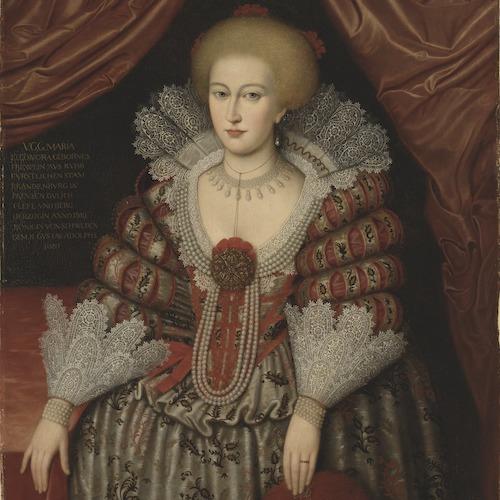 Drottning Maria Eleonora med vackra smycken