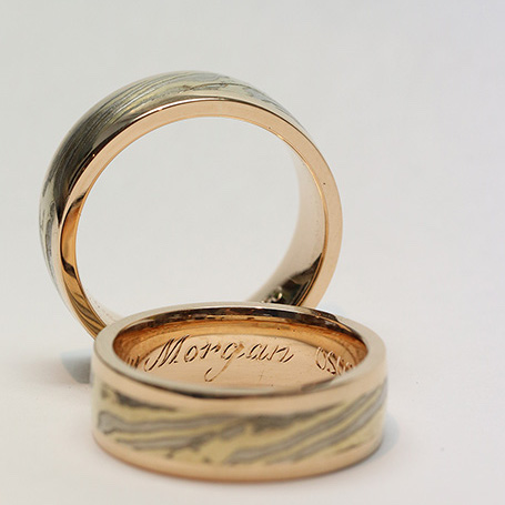 Vackert handgraverade ringar