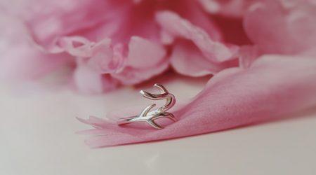 Ring i silver i grenformation
