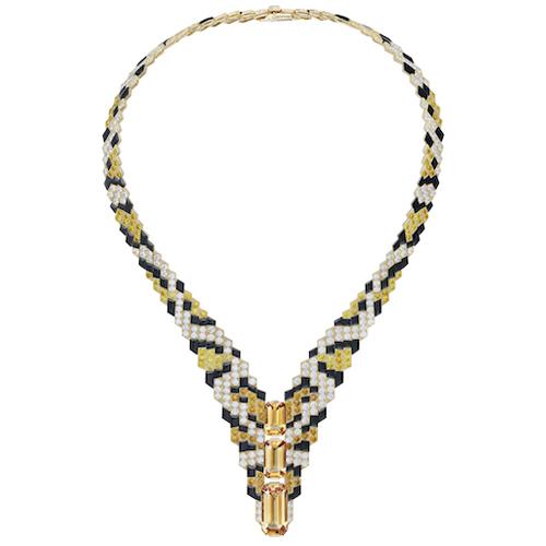 Halsband från Cartier i pixlad version