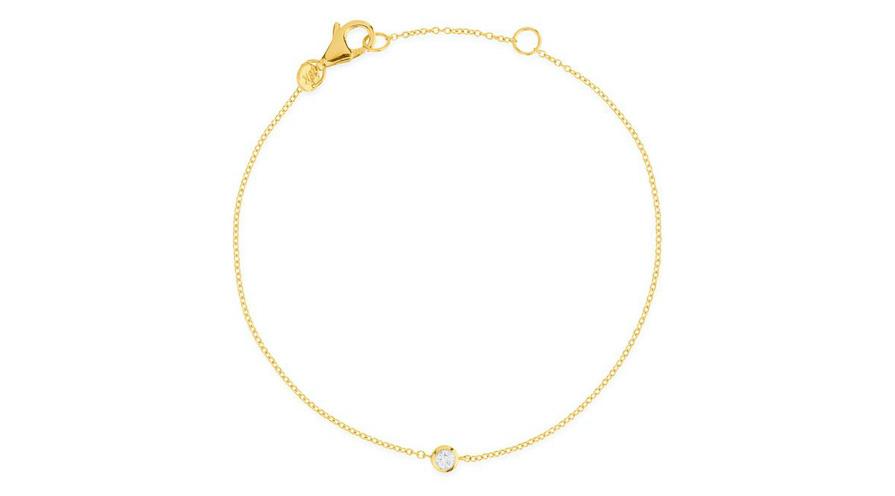 Armband i guld med en diamant från sophie by sophie
