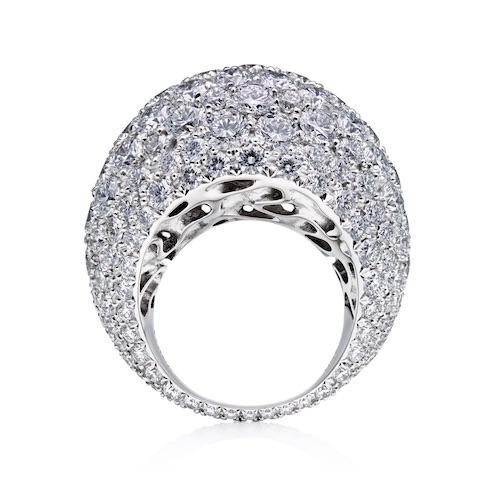 Dune diamantring, lyxigt smyckemode