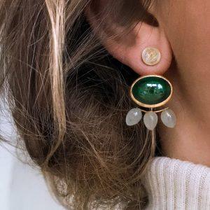 örhängen med malakit - smyckemode hösten 2021